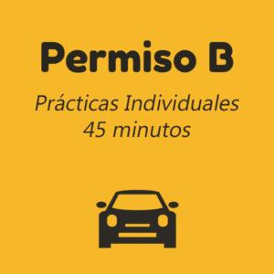 Permiso-B-practicas-individuales-45-minutos autoescuela meliana